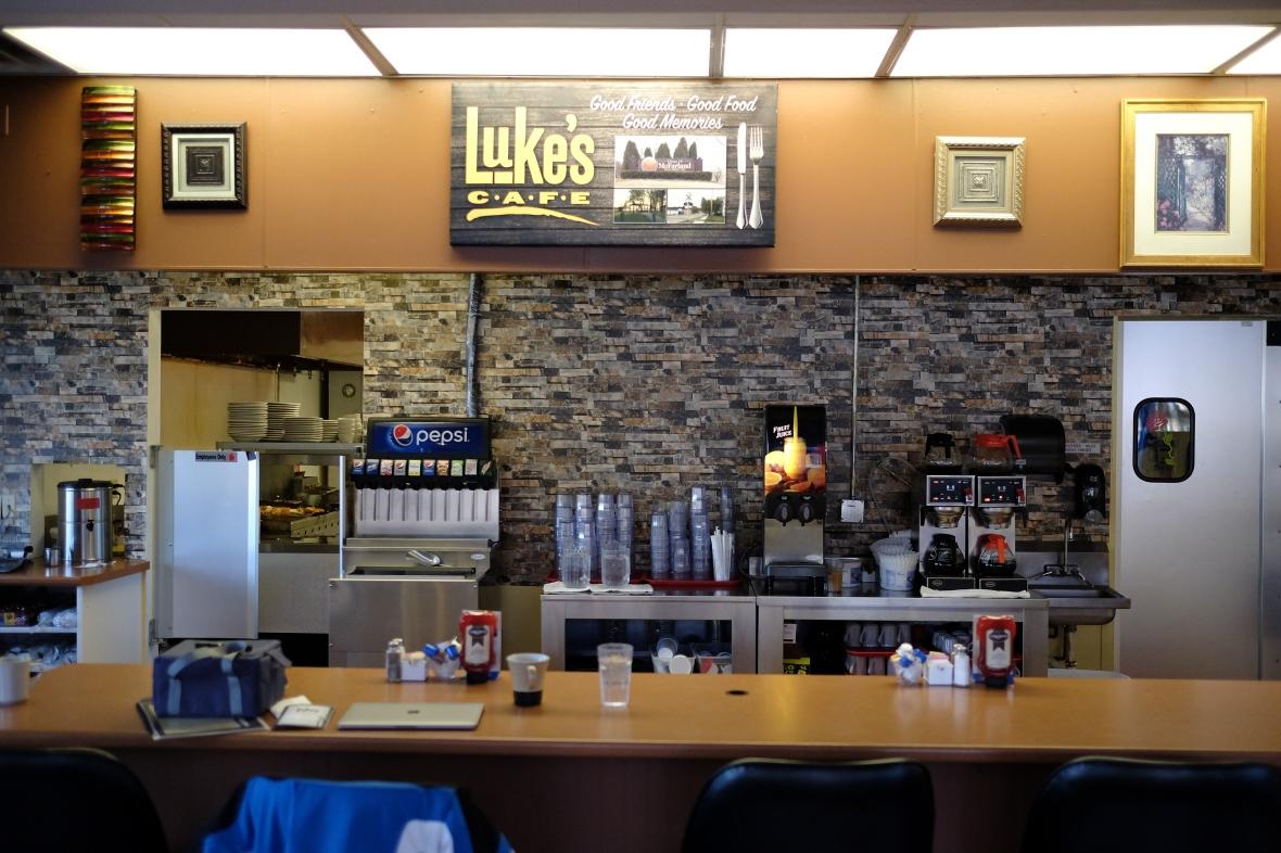 Luke's Cafe Backdrop